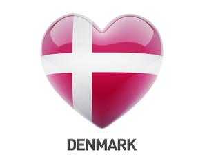 Denmark Flag Heart Icon