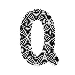 Circle pattern alphabet Q