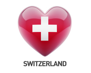 Switzerland Flag Heart Icon