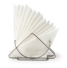 Table napkin holder with napkins