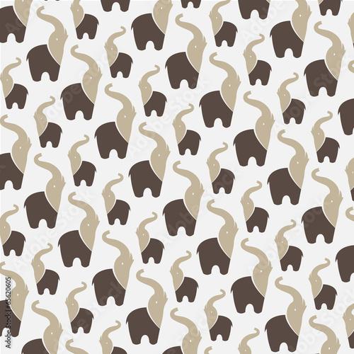Fototapeta Seamless wallpaper elephant.