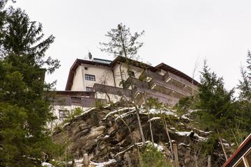 Ski resort town Bad Gastein in mountains, Austria, Land Salzburg