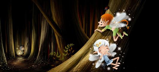 hadas en el bosque