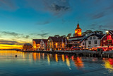 Fototapety Stavanger at night - Charming town in the Norway.