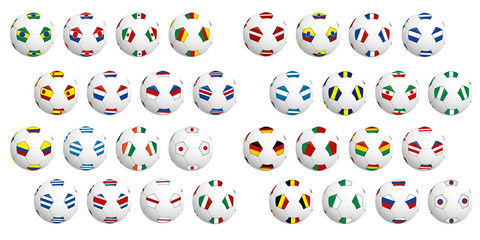 Ballons de football 32 pays