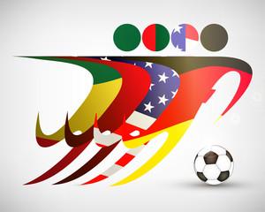 Silhouetten Fußball Gruppe G WM 2014