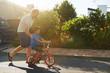 Leinwandbild Motiv learning to ride