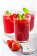 strawberry juice with mint. summer drink