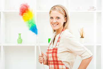 Cheerful housewife