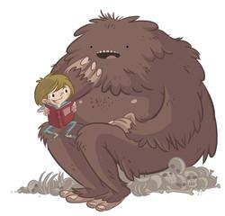 monstruo y niño