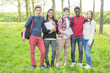 Multiethnic Teenage Students at Park