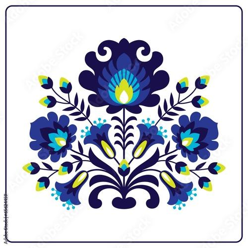 obraz PCV Wycinanki ludowe - Kwiaty