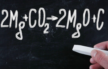 chemical formula on blackboard