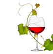 Glass of wine isolated on white background