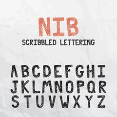 Nib Scribbled Font