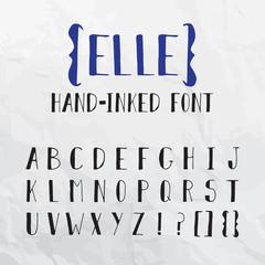 Elle Hand-Inked Font