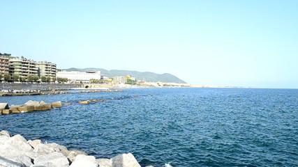 Lungomare di Salerno visto dal Porto di Masuccio Salernitano