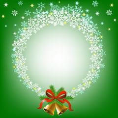 Christmas snowy frame