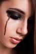 Portrait eines traurigen Mädchens