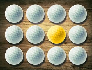 golf balls desk