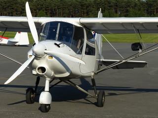 Propeller eines Sportflugzeug am Flugplatz Oerlinghausen