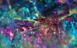Leinwandbild Motiv Nugget, colour metal. Macro. Extreme closeup