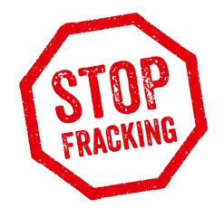 Roter Stempel - Stop Fracking