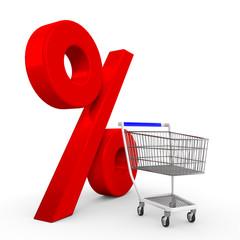Einkaufswagen Prozent gr