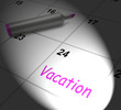 Vacation Calendar Displays Day Off Work Or Holiday