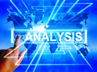Analysis Map Displays Internet or Worldwide Data Analyzing