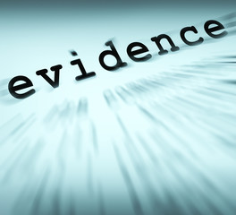 Evidence Definition Displays Crime Scene Investigation And Polic