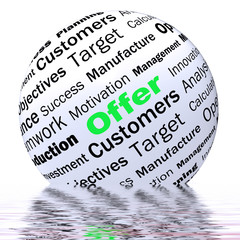 Offer Sphere Definition Displays Special Prices Or Promotions