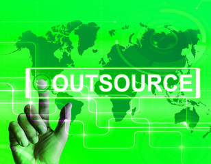 Outsource Map Displays International Subcontracting or Outsourci