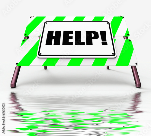 Help Sign Displays Assistance Wanted and Seeking Answers