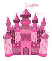 Fairy Tale ìnk magic castle, vector illustration