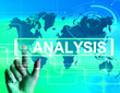Analysis Map Displays Internet or International Data Analyzing