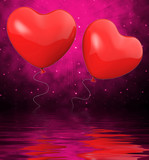 Heart Balloons Displays Mutual Attraction And Affection poster