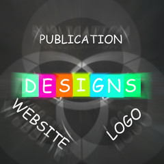 Web design Words Displays Designs for Logo Publication and Websi