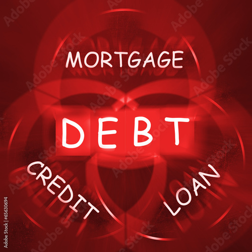 Mortgage Credit and Loan Displays financial Debt