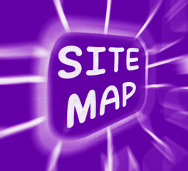 Site Map Diagram Displays Layout Of Website Pages
