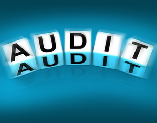 Audit Blocks Displays Investigation Examination and Scrutiny