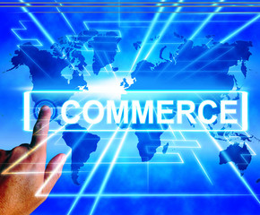 Commerce Map Displays International Commercial and Financial Bus
