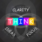 Words Displays Clarity of Ideas Thinking and Focus poster