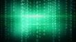 green digital matrix style loop background
