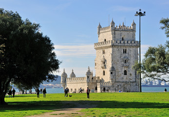 Belem tower and city park, Lisbon
