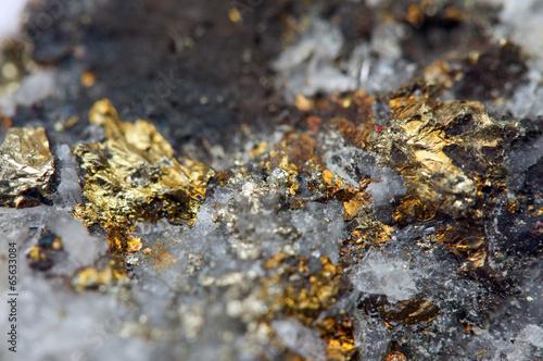Foto op Aluminium Edelsteen Iron ore. Macro