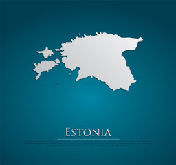 vector Estonia Map card paper
