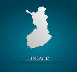 vector Finland Map card paper