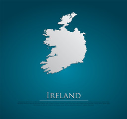 vector Ireland Map card paper