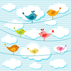 birds on wires